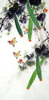 Chinese Vegetables Painting,50cm x 100cm,2614058-x