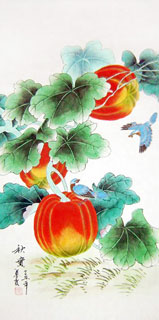Chinese Vegetables Painting,50cm x 100cm,2703086-x