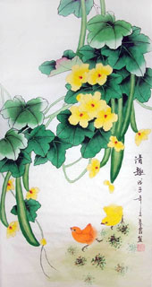 Chinese Vegetables Painting,55cm x 95cm,2703088-x