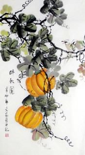 Chinese Vegetables Painting,50cm x 100cm,5564007-x