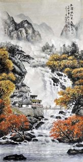 Chinese Village Countryside Painting,66cm x 136cm,1006087-x
