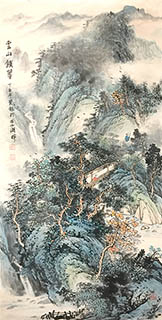 Chinese Village Countryside Painting,68cm x 136cm,1011031-x