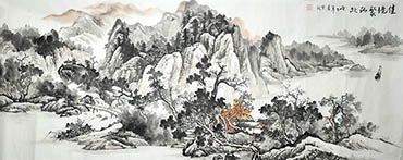 Chinese Village Countryside Painting,70cm x 180cm,1011032-x