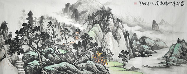 Village Countryside,70cm x 180cm(27〃 x 70〃),1011036-z