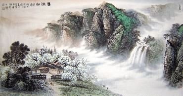 Chinese Village Countryside Painting,90cm x 175cm,1079003-x