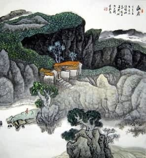 Chinese Village Countryside Painting,97cm x 90cm,1187003-x