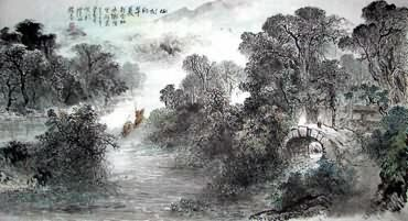 Chinese Village Countryside Painting,97cm x 180cm,1188002-x