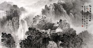 Chinese Village Countryside Painting,69cm x 138cm,1191003-x