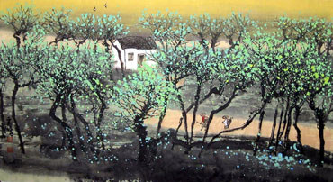 Chinese Village Countryside Painting,50cm x 80cm,1579035-x