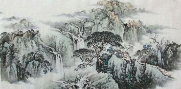 Chinese Village Countryside Painting,69cm x 138cm,wym11088003-x