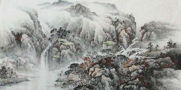 Chinese Village Countryside Painting,69cm x 138cm,wym11088008-x