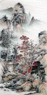 Chinese Village Countryside Painting,69cm x 138cm,wym11088011-x