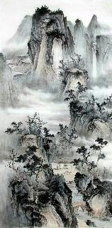 Chinese Village Countryside Painting,69cm x 138cm,wym11088012-x