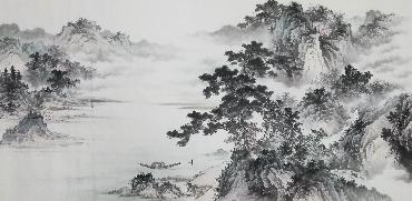 Chinese Village Countryside Painting,69cm x 138cm,wym11088013-x