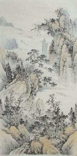 Chinese Village Countryside Painting,69cm x 138cm,wym11088016-x