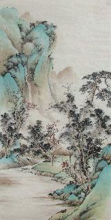 Chinese Village Countryside Painting,69cm x 138cm,wym11088017-x