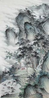 Chinese Village Countryside Painting,69cm x 138cm,wym11088018-x