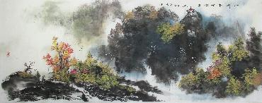 Chinese Village Countryside Painting,70cm x 180cm,xm11094002-x