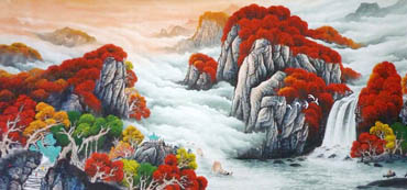 Chinese Waterfall Painting,120cm x 240cm,1134012-x