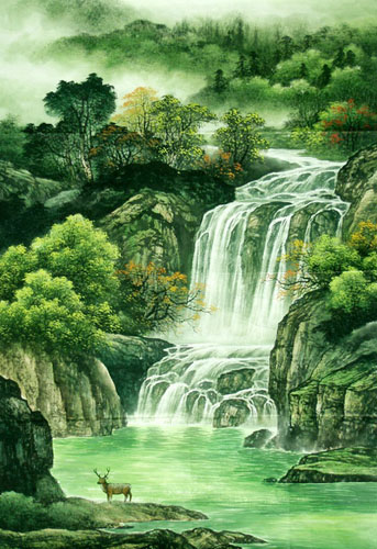 Chinese Waterfall Painting 1135001 81cm X 120cm 32〃 X 48〃