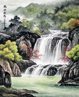 Chinese Waterfall Painting,90cm x 110cm,1135006-x