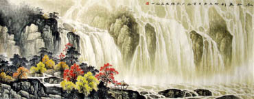 Chinese Waterfall Painting,70cm x 180cm,1135007-x