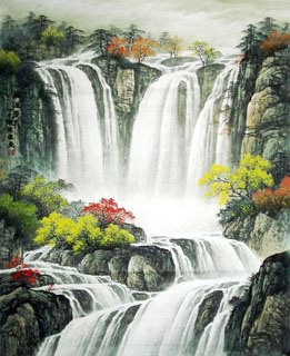 Chinese Waterfall Painting,120cm x 95cm,1135008-x