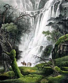 Chinese Waterfall Painting,120cm x 95cm,1135037-x