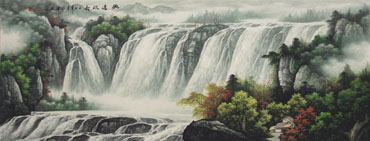 Chinese Waterfall Painting,70cm x 180cm,1135041-x