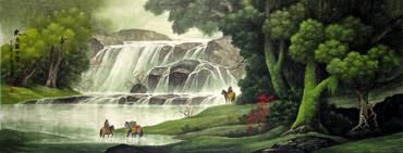 Chinese Waterfall Painting,70cm x 180cm,1135123-x