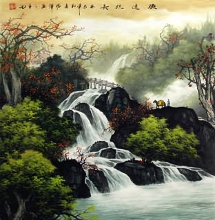 Chinese Waterfall Painting,66cm x 66cm,1135129-x