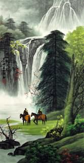 Chinese Waterfall Painting,48cm x 96cm,1135133-x
