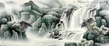 Chinese Waterfall Painting,70cm x 180cm,1144001-x