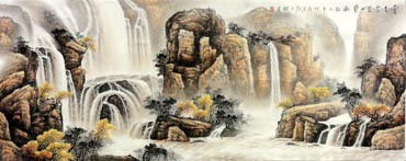 Chinese Waterfall Painting,70cm x 180cm,1144002-x