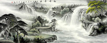 Chinese Waterfall Painting,70cm x 180cm,1147003-x