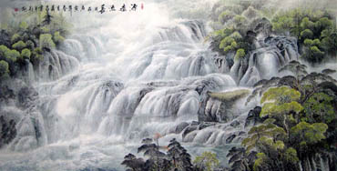 Chinese Waterfall Painting,120cm x 240cm,1149007-x