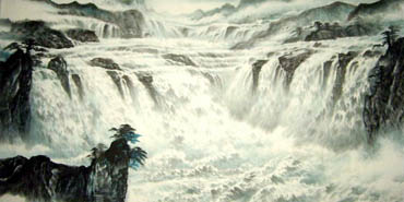 Chinese Waterfall Painting,66cm x 136cm,1157002-x