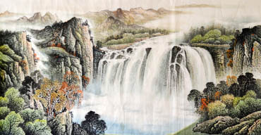 Chinese Waterfall Painting,97cm x 180cm,1158004-x