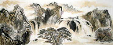 Chinese Waterfall Painting,70cm x 180cm,1162008-x