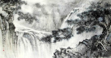 Chinese Waterfall Painting,97cm x 180cm,1426002-x