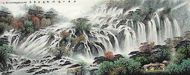 Chinese Waterfall Painting,70cm x 180cm,bj11168003-x