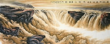 Chinese Yellow River Painting,96cm x 238cm,1001005-x