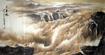 Chinese Yellow River Painting,97cm x 180cm,1119026-x
