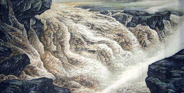Chinese Yellow River Painting,120cm x 240cm,1332005-x