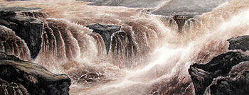 Chinese Yellow River Painting,70cm x 180cm,lh11083008-x